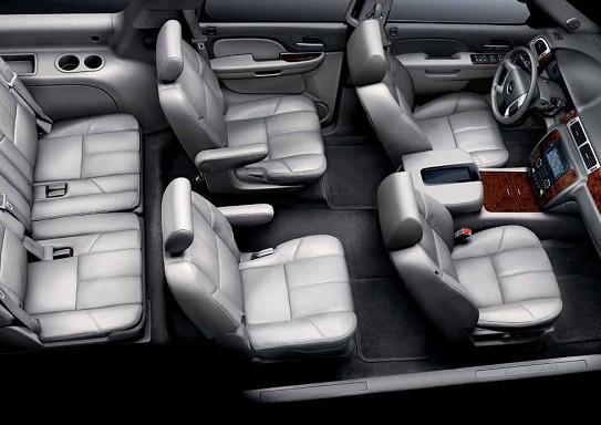 Executive Black SUV Suburban Interior